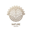 cactus logo template vector image vector image