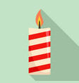 christmas candle icon flat style vector image