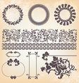 collection of vintage floral pattern design vector image vector image