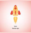 color rocket ship flying rocket in space vector image