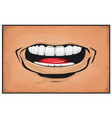 comic books mouth anger and rage vector image vector image