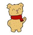 comic cartoon waving teddy bear vector image vector image