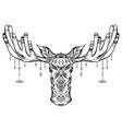 contour native a moose head with vector image vector image