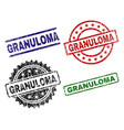 damaged textured granuloma seal stamps vector image vector image