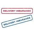 Delivery Insurance Rubber Stamps vector image vector image