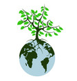 earth tree vector image vector image