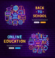 education website banners vector image vector image