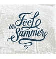 Feel the summer Calligraphic retro grunge poster vector image vector image