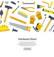 flat construction tools background vector image vector image