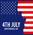 forth july united states america vector image