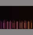 frequency bar overlap in dark background vector image