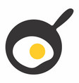 fry egg icon vector image vector image