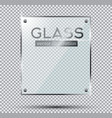 glass plate with steel rivets isolated on vector image vector image