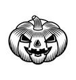halloween pumpkin graphic vintage object vector image