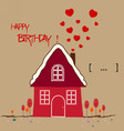 happy birth day Warm home vector image vector image