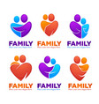 happy family people man woman kids vector image