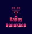 happy hanukkah in 80s retro style text in the vector image