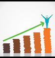 happy with business growth vector image vector image