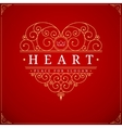 Heart vintage luxury logo template vector image vector image