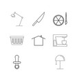 home appliances linear icon set simple outline vector image vector image