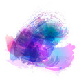 imitation of strokes with a watercolor brush of vector image vector image