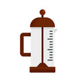 infusion pot icon flat style vector image vector image