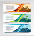 leaflets 3 fold template vector image vector image