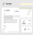 love guitar business letterhead envelope and vector image vector image