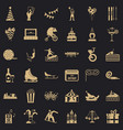 lunapark icons set simple style vector image vector image