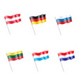 luxembourg netherlands russia lithuania austria vector image vector image