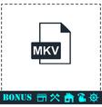 MKV icon flat vector image vector image