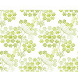 modern shapes dill or fennel seamless pattern vector image vector image