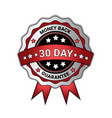 money back in 30 days guarantee medal isolated vector image vector image