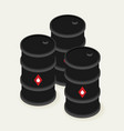 oil barrels isometric icon vector image vector image