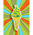 pop art ice cream vector image vector image