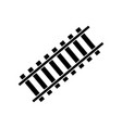 railway sign tangent track filled black vector image