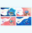 school or college subjects stationery and books vector image vector image