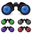 set of binoculars vector image