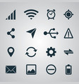 smartphone set ui icons vector image