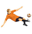 soccer player in action vector image vector image