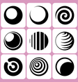 sphere icons set vector image vector image