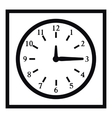 Square wall clock icon simple style vector image vector image