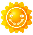 sun with smile vector image vector image