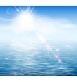 Sunshine by the sea vector image vector image