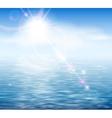 sunshine sea vector image vector image