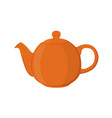 teapot pottery fictile clay teakettleflat style vector image vector image