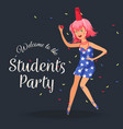 teenager wile away time at knees-up vector image vector image