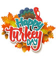 thanksgiving day greetings vector image