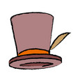 top hat elegant accessory fashion object vector image vector image