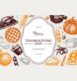 vintage autumn template vector image vector image